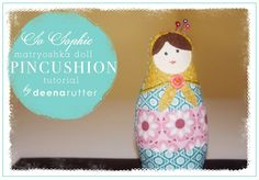 Free Printable Pincushion Patterns   ... pattern made with So Sophie fabric…use as a pincushion or for your