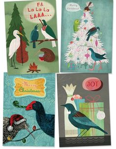 New range of NZ Christmas cards by Tanya Wolfkamp for Live Wires NZ ltd. Cards show native NZ birds with traditional Xmas themes of presents, Christmas trees etc. Summer Christmas, Christmas Bird, Christmas Stuff, Christmas Crafts, Xmas Theme, Kiwiana, Brown Paper Packages, Christmas Cooking, Snail Mail