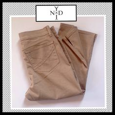 NYDJ Crop Stretch pants NYDJ Crop Stretch pants. NWOT. 98% cotton, 2% spandex. NYDJ Pants Ankle & Cropped