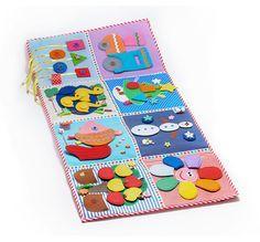 Estera en desarrollo del juego consta de 8 sectores con el desarrollo de las tareas. Está desarrollado para niños a partir de 9 meses. Contiene sobre