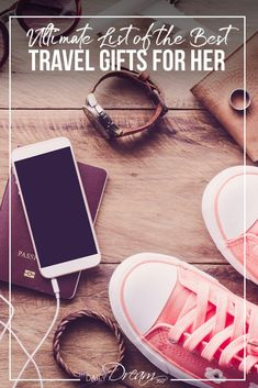 A list of the best travel gifts for women: from popular travel accessories, luggage and wallets to travel technology and camera gear. #giftguide #Travelgifts #gifts #travel #travelgear