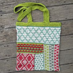 The bag is not very cute, but contains several mosaic stitch patterns that can be used for other projects.