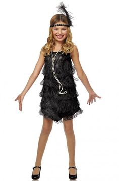 Description Description #49716 Get dolled up for a jazzy night out! This classic flapper costume makes a great outfit for themed parties and for dance recitals. With a costume this fun, you'll be the