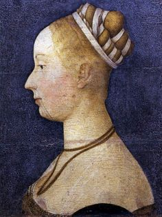 "Angelo, da Siena - Small Female Portrait - Renaissance (Early Italian, ""Quattrocento"") - Other/Unknown technique - Portrait - Museo Correr -."