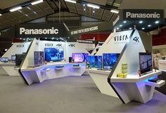 Panasonic exhibition stand at Hometech on Behance
