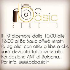 Vi aspetto il 19/12 al Be Basic Studio. #fondazioneANT #ritrattifotografici #aNatalepuoi  per informazioni www.bebasic.it