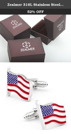 Zealmer 316L Stainless Steel American Flag Cufflinks for Men Business Wedding 1 Pair 931343. At Zealmer Jewelry, we believe in our products. That's why we back them all with an 91-day warranty and provide friendly, easy-to-reach support.