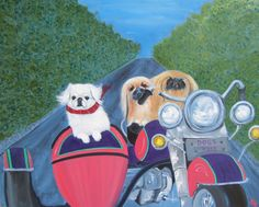 Pekingese Art Dog Print/ Easy Riders/ by Original by dogwagart, $13.50