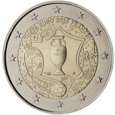 Francia 2 euros conmemorativos 2016  UEFA Fútbol