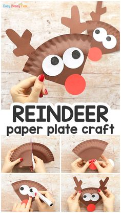 Paper Plate Reindeer Craft Have a few spare paper plates and need an easy Christmas craft idea to do with kids? Learn how to make this cool paper plate reindeer craft. crafts for kids for teens to make ideas crafts crafts Kids Crafts, Preschool Christmas Crafts, Daycare Crafts, Winter Crafts For Kids, Classroom Crafts, Toddler Crafts, Christmas Fun, Easy Crafts, Easy Christmas Crafts For Toddlers