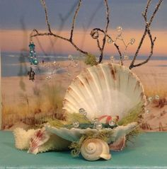 This fantasy shell bed is OMG so beautiful and would make a great place for a fairy or even a mermaid to takeaway rest in.