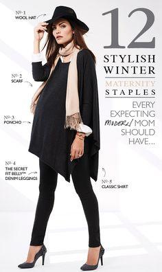 12 Stylish Winter Maternity Staples