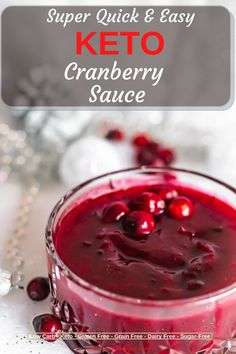Quick and easy ,done in 10 minutes with only 3 Ingredients, this Keto Cranberry Jellied Sauce is perfect for you dinner but also instead of jam on one of the Keto Bread. Enjoy fully and have fun making ith with Sugar-Free Brown Sugar, which gives its superior taste.