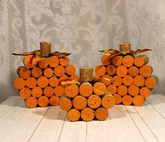 Rustic Fall Decor/ Pumpkin Decor/ Fall Wedding Decor/Cork