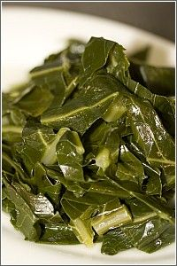 Collard Greens - I swear, I have the BEST recipe for collards. Make your tongue slap your head silly. I plant them every fall and freeze them, so I can fix them all year long.