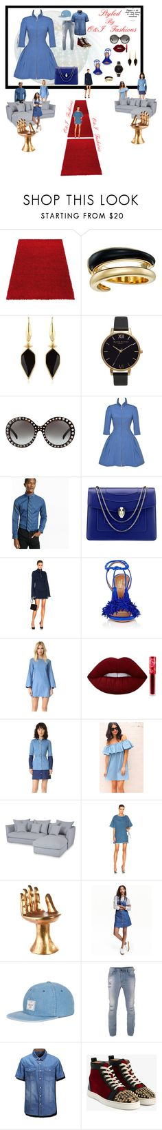 """Denim- Fashion Week!!!"" by olafor ❤ liked on Polyvore featuring Michael Kors, Isabel Marant, Olivia Burton, Prada, Chanel, Express, Bulgari, Marques'Almeida, Aquazzura and English Factory"