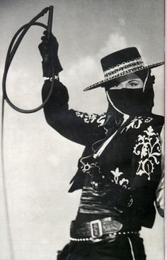 """Linda Stirling """"The Black Whip"""" Based on Zorro characters. Vintage Cowgirl, Cowboy And Cowgirl, Cowboy Baby, Urban Cowboy, Stirling, Zorro Costume, Chapeau Cowboy, Into The West, Western Wear"""