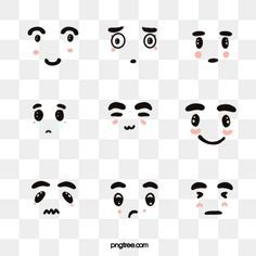 Untitled Funny Cartoon Faces Cartoon Expression Hand Painted