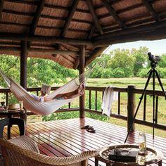 Belmond Khwai River Lodge offers you luxury safari lodge accommodation near Moremi Game Reserve in Botswana. African Holidays, Elephant Camp, River Lodge, Game Reserve, Lake District, Lodges, Hammock, Travel Inspiration, Safari