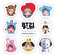 "Drop (sticker sheet edition)"" Stickers by graphicfighter Pop Stickers, Tumblr Stickers, Printable Stickers, Planner Stickers, Bts Chibi, Bts Pictures, Photos, Kpop Drawings, Aesthetic Stickers"