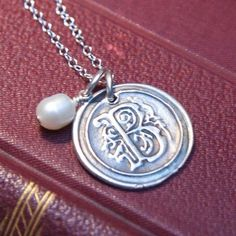 wax seal pendant by marcie