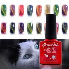 Cat Eye Gel, Cat Eye Nails, Gel Nail Polish Colors, Gel Polish, Led Color, Gel Uv, Soak Off Gel Nails, Nagel Gel, Nude Nails