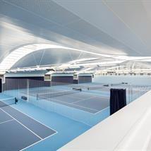 Hurlingham Racquet Centre construction with wood elements