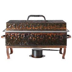 Jan Barboglio Rectangular Chafer - Hand-crafted forged iron.