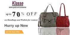 Get upto 70% Off on Colorful Women's Handbags Online at www.klasseleather.in. Hurry up Now!!!