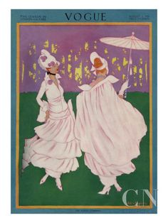 Vogue Cover - August 1914 Poster Print by Helen Dryden at the Condé Nast Collection