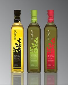 Hidalgo Olive Oil - I like that is is designed in a rectangle and fades at the top, letting the product shine through.