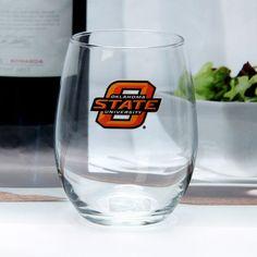 Oklahoma State Cowboys 15oz. Stemless Wine Glass - $11.99