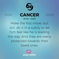 Cancer dating tips