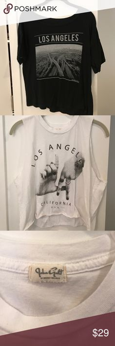 (2) Brandy Melville tops No damage. Super soft and lightweight. $29 for both tops. Brandy Melville Tops Tees - Short Sleeve