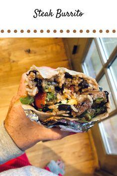 Good Burrito Recipe, Steak Burrito Recipe, Healthy Steak, Healthy Cooking, Cooking Recipes, Healthy Meals, Healthy Food, Healthy Eating, Healthy Recipes