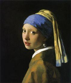 真珠の耳飾りの少女 (青いターバンの娘) (Meisje met palel) 1665~1666年頃 46.5×40cm 油彩・画布 マウリッツハイス美術館 (ハーグ)