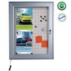 Avizier magnetic cu plută și ușă iluminat cu LED Lockers, Locker Storage, Led, Cabinet, Furniture, Home Decor, Clothes Stand, Decoration Home, Room Decor