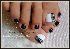 Greek Style Toenail Art   Monochrome Pedicure ♥ Педикюр в Греческом Стиле