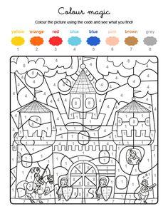 Coloriage Magique Chateau Fort Cp.Pour Imprimer Ce Coloriage Gratuit Coloriage Magique Lettres