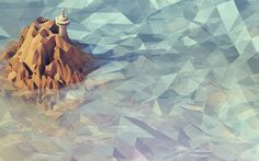 Timothy J. Reynolds  The latest Desktop Wallpaper Project submission on The Fox is Black features one of the geometric landscapes created by Timothy J. Reynolds. Check out more of his rendered landscapes on Dribbble.