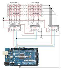 Circuit to Control 16*8 LED Matrix Using Arduino Mega and 74595 (Part 1 of 13) « Funny Electronics