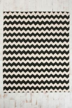 Zig Zag Print Rug / Urban Outfitters #rug #home $74