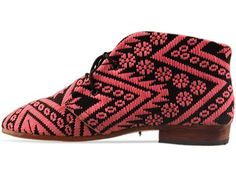 Fair Trade Osborn Boot in Pink and Black at Solestruck.com #shoes #ethical #style