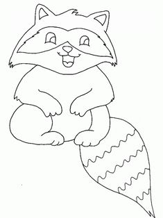 Print Coloring Page And Book Raccoon Animals Pages For Kids Of All Ages Updated On Saturday January
