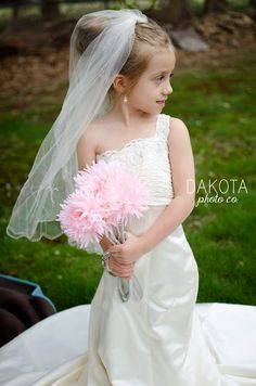little girl in mom's wedding dress | Mother's Day photo ideas, Northeast Ohio family photography.