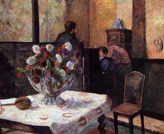 """ Interior of the Painter's House, rue Carcel, 1881, Paul Gauguin Medium: oil on canvas"""
