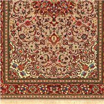 Tapete Persa Illan Sherkat Floral de Lã sobre Seda 1,08m X 1,60m