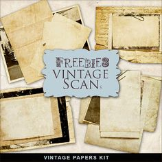 Far Far Hill - Free database of digital illustrations and papers: Freebies Vintage Papers Kit