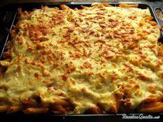 Aprende a preparar pasta al horno  con esta rica y fácil receta.  Un plato de pasta divertido y delicioso, ideal para los más pequeños de casa. Presenta los...