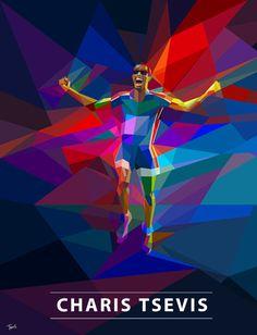 Em minha busca diária por inspiração, tive o olhar fisgado pelo trabalho do designer gráfico Charis Tsevis. #neofuturism #futurismo #illustration #sports #Olympics